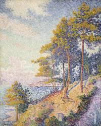 Chemin Côtier à Saint-Tropez (Paul Signac) - Muzeo.com