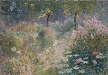 Chemin fleuri (Emile Claus) - Muzeo.com
