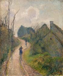 Chemin montant à Osny (Val d'Oise) (Camille Pissarro) - Muzeo.com