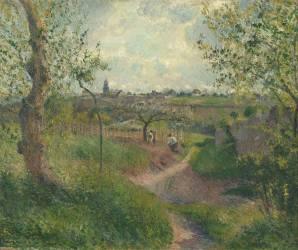 Chemin montant à travers champs. Côte des Grouettes, Pontoise (Camille Pissarro) - Muzeo.com