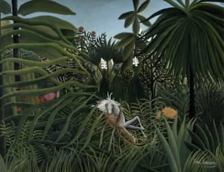 Cheval attaqué par un jaguar (Henri Rousseau) - Muzeo.com