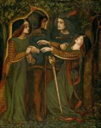 Comment ils se sont rencontrés (Dante Gabriel Rossetti) - Muzeo.com