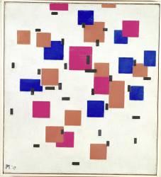Composition en couleur A (Mondrian Piet) - Muzeo.com