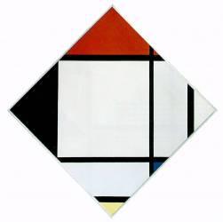 Composition en losange rouge, noir, bleu et jaune (Piet Mondrian) - Muzeo.com
