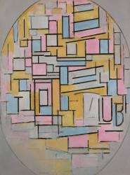 Composition en ovale aux couleurs claires 2 (Mondrian Piet) - Muzeo.com
