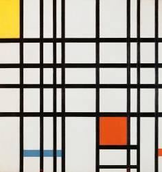 Composition en rouge, jaune et bleu (Mondrian Piet) - Muzeo.com