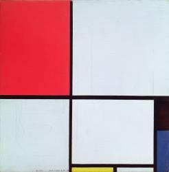 Composition rouge, noir, bleu et jaune (Mondrian Piet) - Muzeo.com