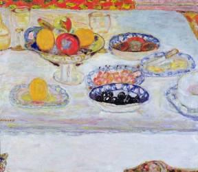Compotier et assiettes de fruits (Pierre Bonnard) - Muzeo.com
