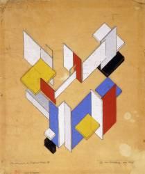 Construction de L'Espace - Temps III (Theo Van Doesburg) - Muzeo.com