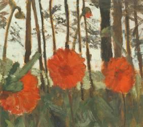 Coquelicots au bord d'un Bois (Paula Modersohn-Becker) - Muzeo.com