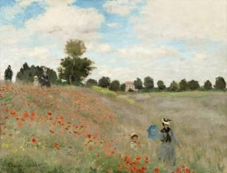 Coquelicots, environs d'Argenteuil (Monet Claude) - Muzeo.com