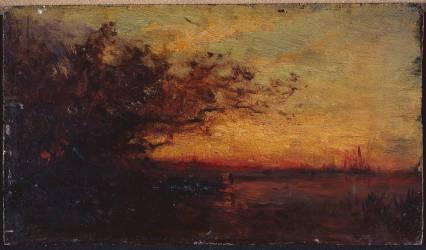 Coucher de soleil (Félix Ziem) - Muzeo.com
