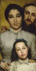 Dalou, sa femme et sa fille (Lawrence Alma-Tadema) - Muzeo.com