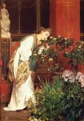 Dans le péristyle (Lawrence Alma-Tadema) - Muzeo.com