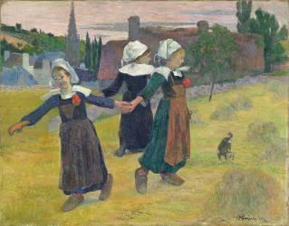 Danse Bretonne des filles à Pont-Aven (Paul Gauguin) - Muzeo.com