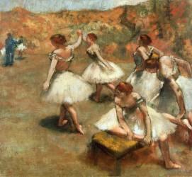 Danseuses sur la scène (Edgar Degas) - Muzeo.com