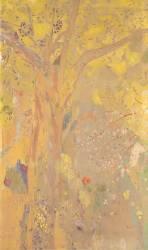 Décoration Domecy : arbres, fond jaune (Odilon Redon) - Muzeo.com