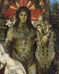 Détail de Jupiter et Sémélé (Gustave Moreau) - Muzeo.com