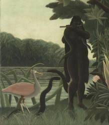 Détail de La charmeuse de serpents (Le Douanier Rousseau) - Muzeo.com