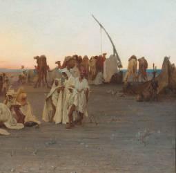Détail de Prière du soir dans le Sahara (Guillaumet Gustave Achille) - Muzeo.com