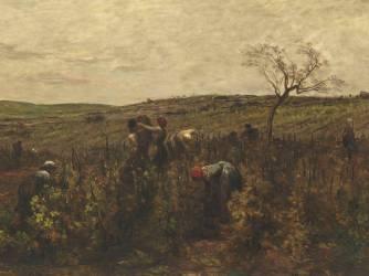 Détail de Vendanges en Bourgogne (Daubigny Charles-François) - Muzeo.com