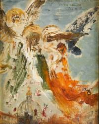 Des anges jettent des fleurs sur le Vatican (Gustave Moreau) - Muzeo.com