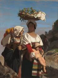 Deux paysannes italiennes et un enfant (Jean Léon Gerôme) - Muzeo.com
