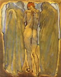 Dos de nu féminin et fantômes (Koloman Moser) - Muzeo.com