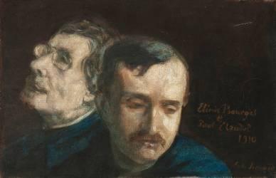 Double Portrait de Paul Claudel et Elemir Bourges (Bernard Emile) - Muzeo.com