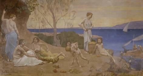 Doux pays (Puvis de Chavannes Pierre) - Muzeo.com
