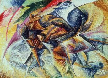 Dynamisme d'un cycliste (Umberto Boccioni) - Muzeo.com