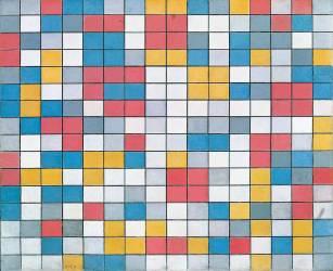 Échiquier aux Couleurs Claires (Piet Mondrian) - Muzeo.com