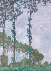 Effet de vent, série des peupliers (Claude Monet) - Muzeo.com
