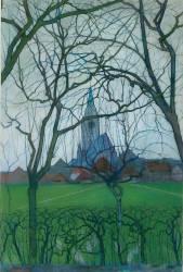 Eglise de village (Mondrian Piet) - Muzeo.com