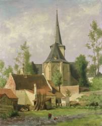 Eglise vue de derrière (Mondrian Piet) - Muzeo.com