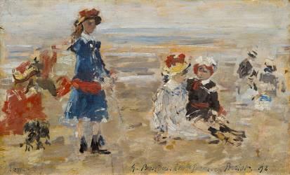 Enfants à la plage (Eugène Boudin) - Muzeo.com