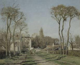 Entrée du village de Voisins (Pissarro Camille) - Muzeo.com