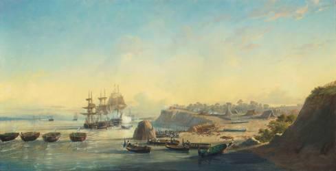 Episode de l'expédition franco-anglaise en Argentine en 1845 (François Pierre Bernard Barry) - Muzeo.com