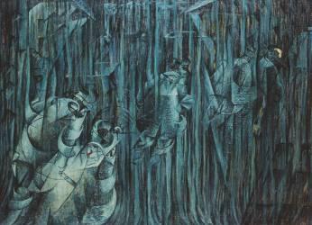 Etats d'Esprit : ceux qui restent (Stati d'Animo I, 3 : quelli che restano) (Umberto Boccioni) - Muzeo.com