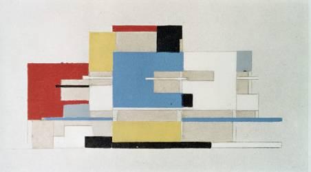 Etude de couleurs pour architecture (Theo Van Doesburg) - Muzeo.com