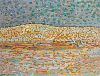 Etude de dune pointilliste (Mondrian Piet) - Muzeo.com