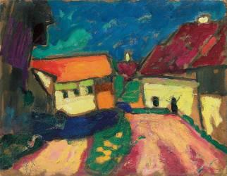 Etude de Paysage, Route du Village (Alexej Von Jawlensky) - Muzeo.com