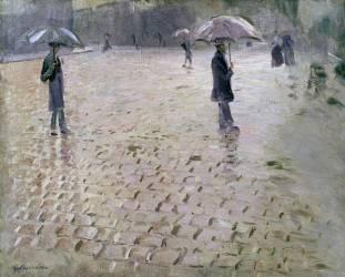 Etude pour une Rue de Paris, un Jour de Pluie (Gustave Caillebotte) - Muzeo.com