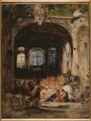 Fête dans un palais à Naples (Félix Ziem) - Muzeo.com