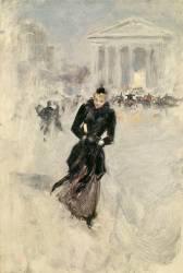 Femme au boa (Jean Béraud) - Muzeo.com