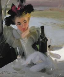 Femme au café (Anders Leonard Zorn) - Muzeo.com