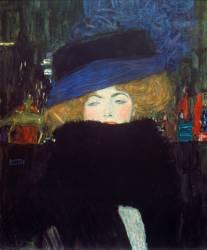 Femme au chapeau et au boa de plume. (Klimt Gustav) - Muzeo.com