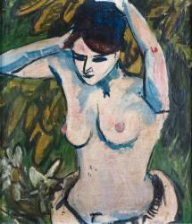 Femme aux bras levés (Ernst Ludwig Kirchner) - Muzeo.com