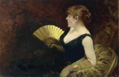Femme avec Eventail (Giuseppe de Nittis) - Muzeo.com