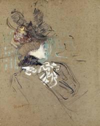 Femme de profil (madame Lucy) (Henri de Toulouse-Lautrec) - Muzeo.com